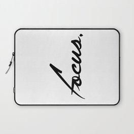 Focus - version 1 - black Laptop Sleeve