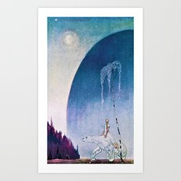 Kay Nielsen - White Bear Taking Her Daughter To The Palace - Digital Remastered Edition Art Print