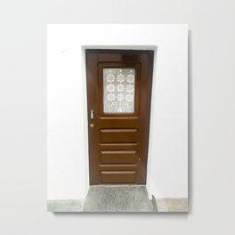 Brown Door Metal Print