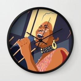 Aretha Franklin Portrait Wall Clock