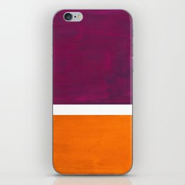 Purple Wine Yellow OchreMid Century Modern Abstract Minimalist Rothko Color Field Squares iPhone Skin