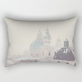 beneath the snow covered domes ... Rectangular Pillow