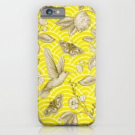 Lemons Pattern (yellow) iPhone Case