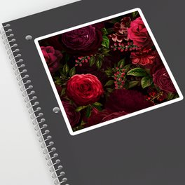 Mystical Night Roses Sticker