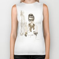 notebook Biker Tanks featuring My breakfast at Tiffany's by Cecilia Sánchez