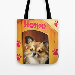A long haired Chihuahua. (Painting) Tote Bag
