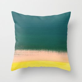 Minimal Abstract Sunset Painting Throw Pillow
