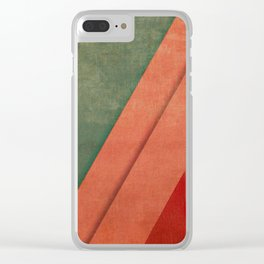 Sailing Between Mountains Clear iPhone Case