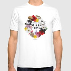 Alice In Wonderland: MAD Mens Fitted Tee MEDIUM White