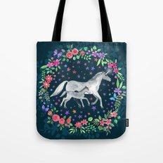 Mama and Baby Unicorn Tote Bag