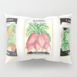 Vintage Vegetable Seed Packs Pillow Sham