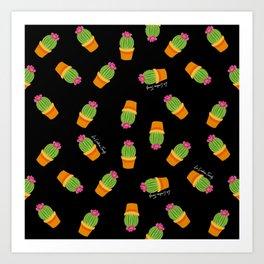 Cactus colorido Art Print