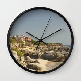 Paradise Island Life Tropical Caribbean Villa House Travel Mexico Vacation Decor Landscape Wall Clock