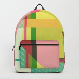 Green Line - pink graphic Backpack