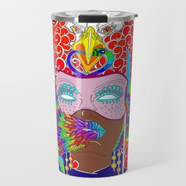 Colorful Masquerade Angel Travel Mug