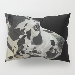 Great Dane Dogue low poly. Pillow Sham