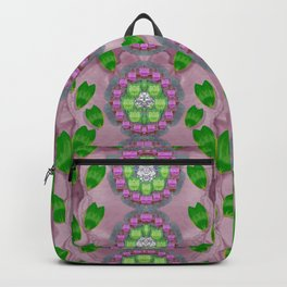 ivy and  holm-oak with fantasy meditative orchid flowers Backpack