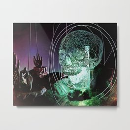 Wire Skull 3/4 View Metal Print