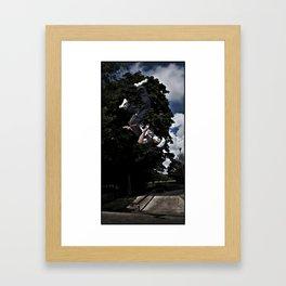 UPSIDE DOWN BLADER Framed Art Print