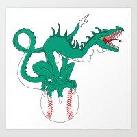 dragonball z Art Prints featuring DragonBall by GodlyAnimator
