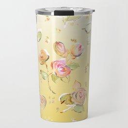 yellow tea rose buds Travel Mug