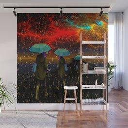 Radioactive rain Wall Mural