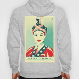 """Hmong Woman (original, full color) """"Peb Cov Neeg Txawj Sib Pab"""" Hoody"""