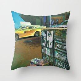 New York Taxi Throw Pillow