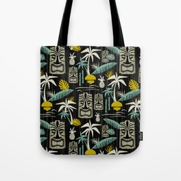 Island Tiki - Black Tote Bag