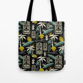 Island Tiki - Black Tote Bag