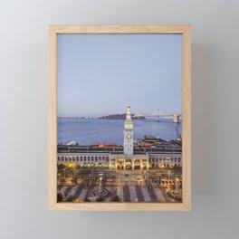Dusk at the Ferry Building, San Francisco #2 Framed Mini Art Print