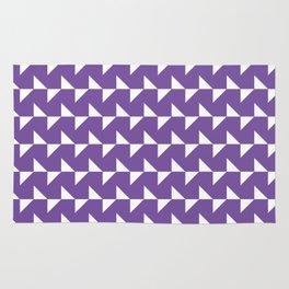Flying Triangles Purple Rug
