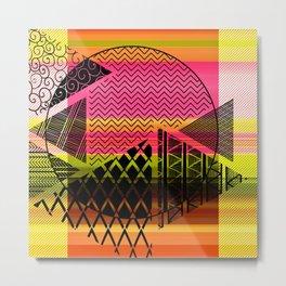 Zentangle Fun Metal Print