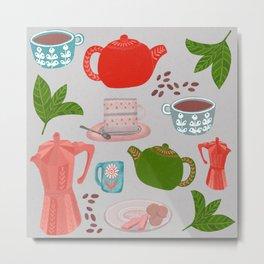 Coffee and Tea Metal Print