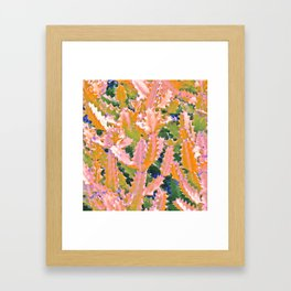 Cactus Pattern Framed Art Print