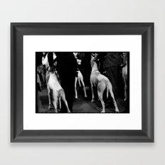 DOG SHOW Framed Art Print