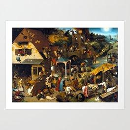 Pieter Brueghel Netherlandish Proverbs Art Print