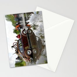 Old Beetle and its reflection  Stationery Cards