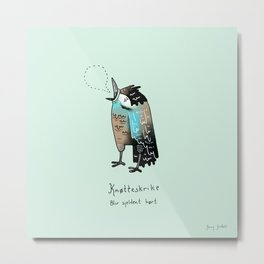Triste dyr: Knøtteskrike Metal Print