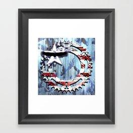 blue steel USA Framed Art Print