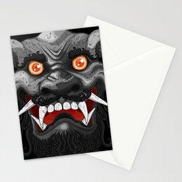 Happy Lion (Black) Stationery Cards
