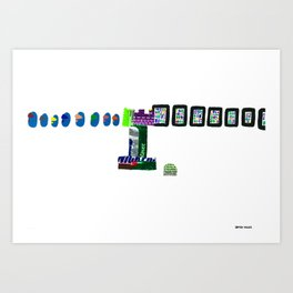 history, people, and vending machines, iii Art Print