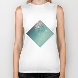 Fresh summer abstract background. Connecting dots, lens flare Biker Tank