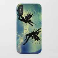 fairies iPhone & iPod Cases featuring Moon Fairies by haroulita