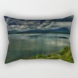 Drifting Away at the Ashokan Rectangular Pillow