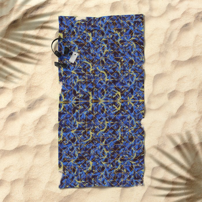 The Blue and Yellow Beach Towel