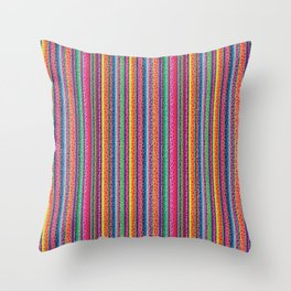 Leopard and Mexican serape print Throw Pillow