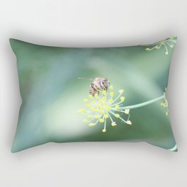Bee and the fennel Rectangular Pillow