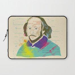 Portrait of William Shakespeare-Hand drawn Laptop Sleeve