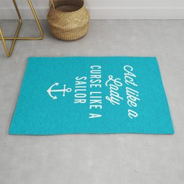 Curse Like A Sailor Funny Quote Rug